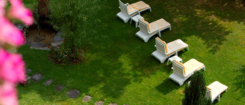 Hotel Wengenerhof, Wengen, Bernese Oberland, Switzerland - sun chairs in the garden.jpg